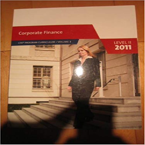 CFA Program Curriculum: Corporate Finance